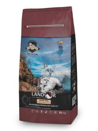 Сухой корм для кошек Landor Grain Free, беззерновой, индейка с бататом, 10кг