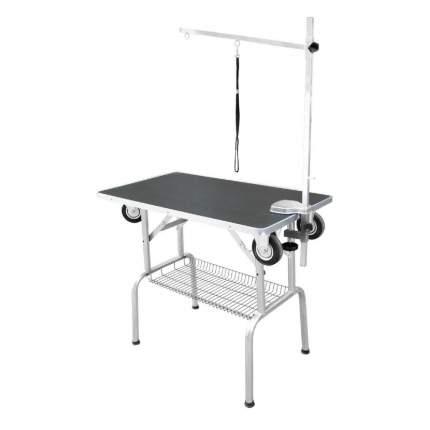 Стол для груминга Show Tech SS Trolley Table, с колесами, черный, 95x55x78 см