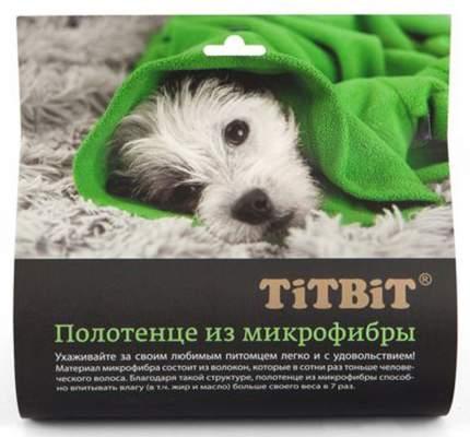 Полотенце для животных TiTBiT, микрофибра, зеленое, 70 х 140 см