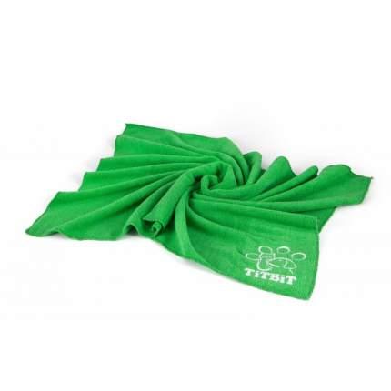 Полотенце для животных TiTBiT, микрофибра, зеленое, 60 х 90 см