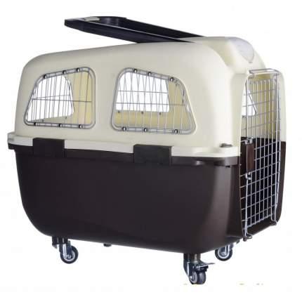 Переноска для животных KREDO пластиковая на колесах, в ассортименте, 70х48х61 см