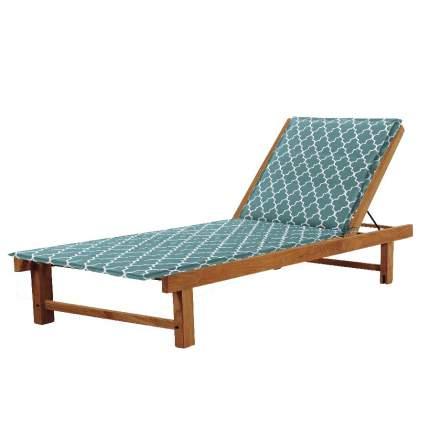 Подушка на стул Morocco Цвет: Бело-Бирюзовый (60х190)