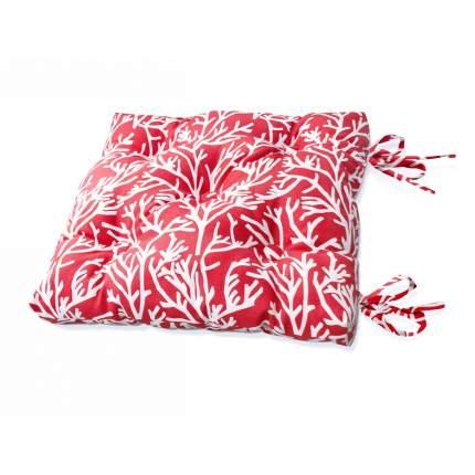 Подушка на стул Corals - S Цвет: Красный (50х50)