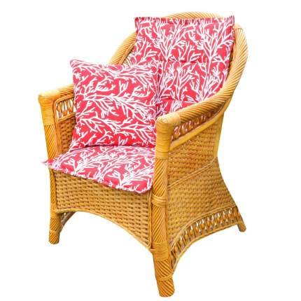 Подушка на стул Corals Цвет: Красный (50х100)
