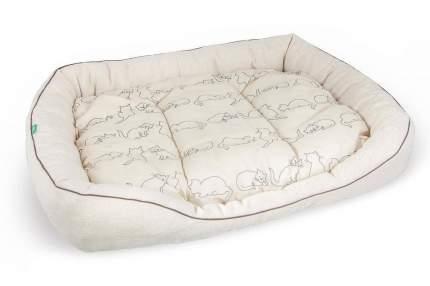Лежак для кошек и собак TiTBiT, льняной, 30х40 см