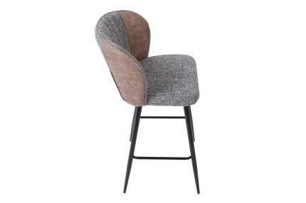 Полубарный стул Hoff Roden 80343995, черный матовый/светло-коричневый/темно-серый