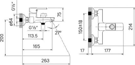 Смеситель для ванны, Bild, IDDIS, BILSB00i02WA