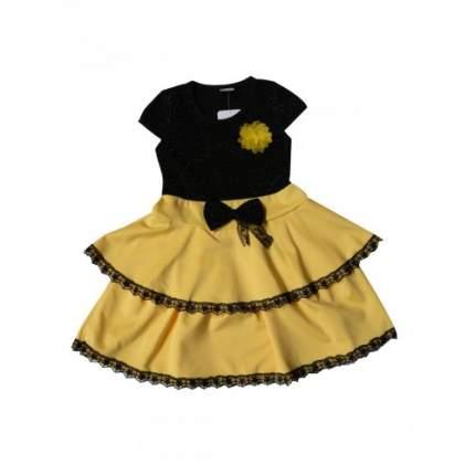 Платье для девочек BUBUKI, цв. желтый, р-р 110