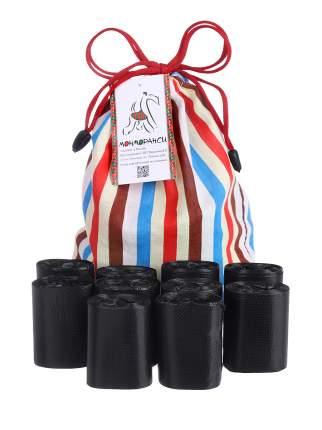 Пакеты для выгула собак Монморанси Чистюля, черные, 30х40 см, 10 рулонов по 20шт