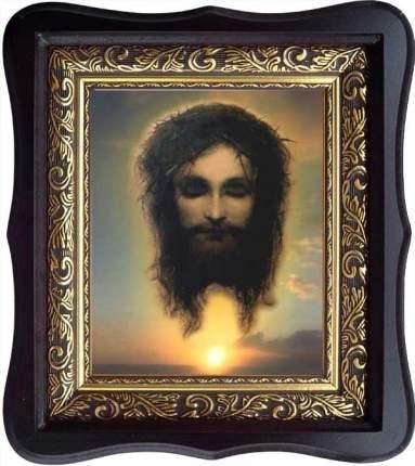 """Иисус Христос моргающий """"Плат Вероники"""". Икона на холсте."""