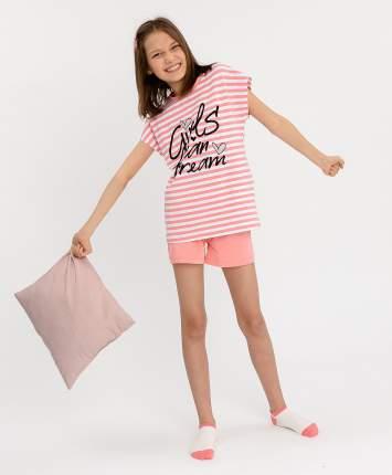 Пижама детская Button Blue, цв. розовый р.128