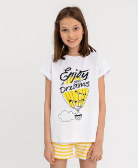 Пижама детская Button Blue, цв. желтый р.98
