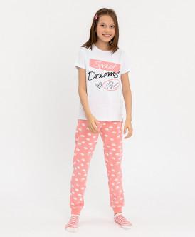 Пижама детская Button Blue, цв. розовый р.104
