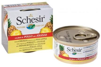 Консервы для кошек Schesir, цыпленок + ананас, 75г
