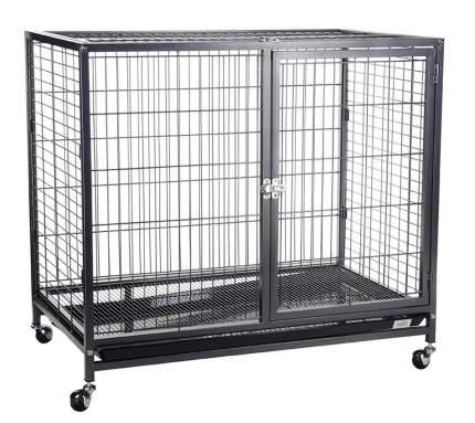Клетка для собак KREDO на колесах, черная, 109,5х70х89 см