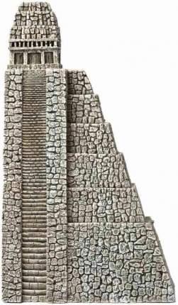Декорация для аквариума Hydor Пирамида ацтеков, левая сторона, полиэфирная смола 18х7х31см