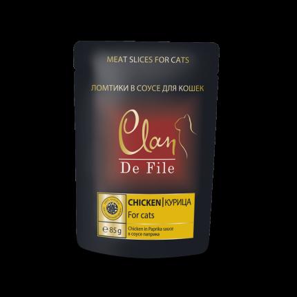 Влажный корм для кошек Clan De File, курица в соусе паприка, 85г