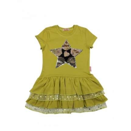Платье для девочек Bonito kids, цв. оливковый, р-р 116