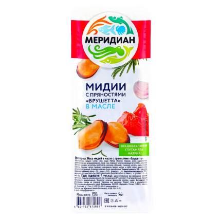Мидии Меридиан брушетта в масле с пряностями 150 г