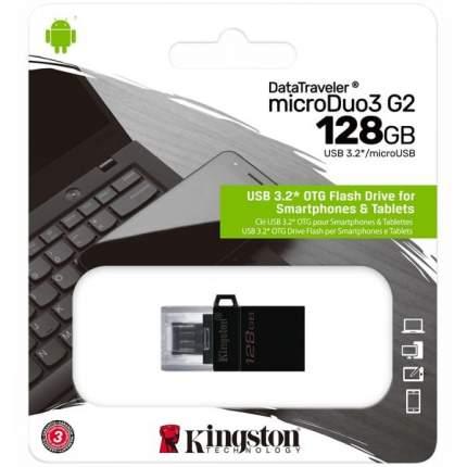 Флэш диск Kingston 128GB DT MicroDuo 3 G2 +microUSB (DTDUO3G2/128GB)