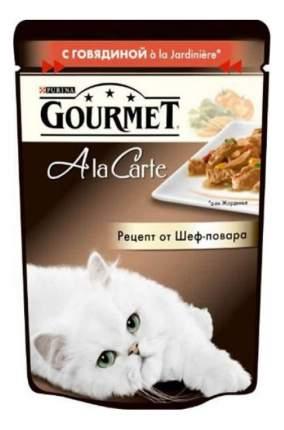 Влажный корм для кошек Gourmet A la Carte, говядина с морковью томатами цукини 24шт по 85г