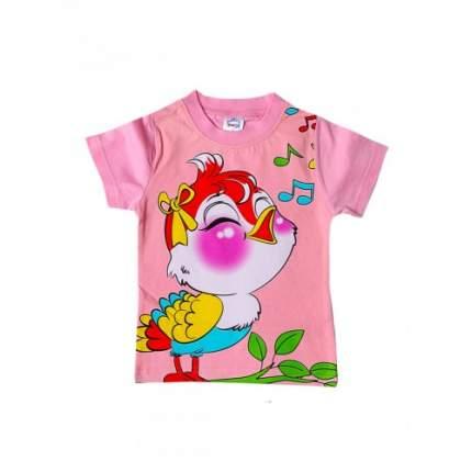 Футболка для девочек Bonito kids, цв. светло-розовый, р-р 86