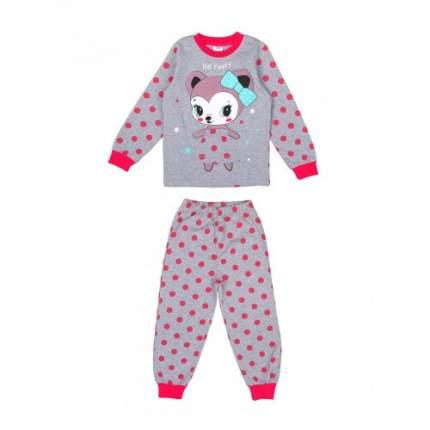 Пижама для девочек Bonito kids, цв. малиновый, р-р 104