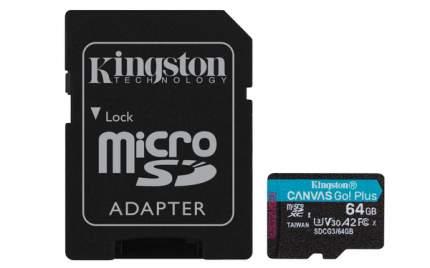 Карта памяти Kingston 64GB Canvas Go! Plus 170R + адаптер (SDCG3/64GB)