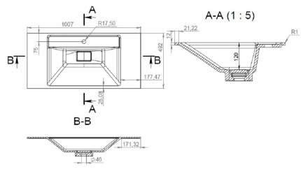 Раковина мебельная AM.PM M50AWPX1001WG INSPIRE V2.0 искусственный мрамор 100 см