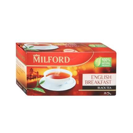 Чай черный Milford English Breakfast байховый 20 пакетиков 1.75 г