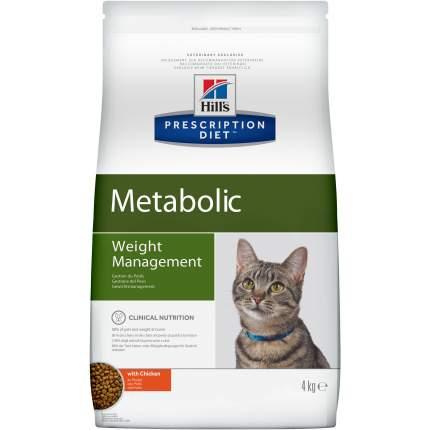 Сухой корм для кошек Hill's Prescription Diet Metabolic, для коррекции веса, курица, 4кг