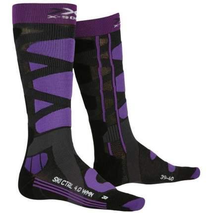 Носки X-Bionic 2020-21 X-Socks® Ski Control 4.0 Women Charcoal Melange/Purple (Eur:37-38)