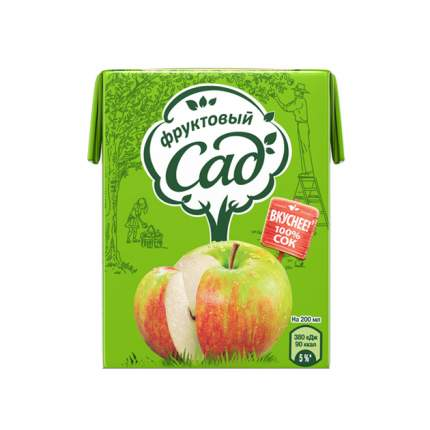 Сок Фруктовый сад осветленный яблоко 0.2 л