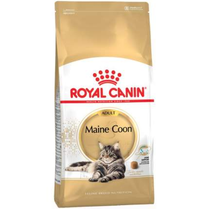 Сухой корм для кошек ROYAL CANIN Maine Coon Adult, мейн-кун, домашняя птица, 2кг