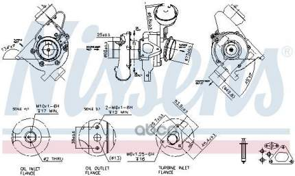 Турбокомпрессор двигателя Mb Sprinter/Viano/Vito 2.2cdi Nissens 93192
