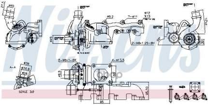 Турбокомпрессор двигателя Ford Focus/Transit Connect 98 Nissens 93077
