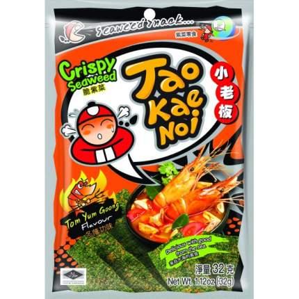 TAO KAE NOI Crispy Seaweed TomYum Goong Flavour суп Том Юм Гунг 32 грамма Упаковка 6 шт