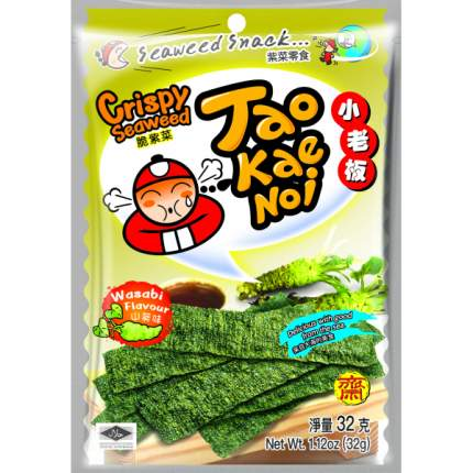 TAO KAE NOI Crispy Seaweed Wasabi Flavour Васаби 32 грамма Упаковка 6 шт