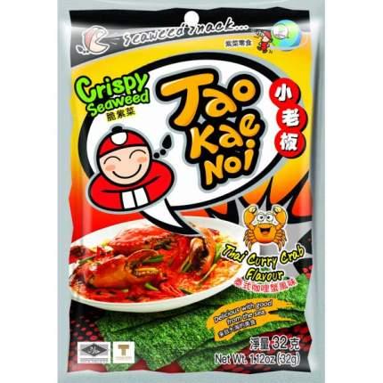 TAO KAE NOI Crispy Seaweed Thai Curry Crab Flavour Тайский краб карри 32 га 6 шт