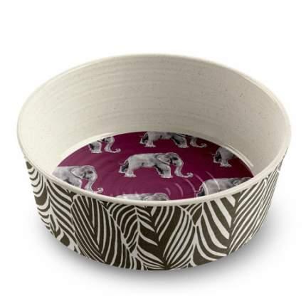 Одинарная миска для собаки TarHong Safari Elephant, меламин, коричневый, 1.89 л