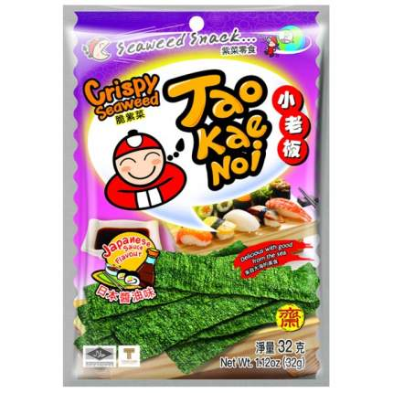 TAO KAE NOI Crispy Seaweed Japanese Sauce Flavour Японский соус 32 грамма Упаковка 6 шт