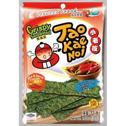 TAO KAE NOI Crispy Seaweed Hot and Spicy Flavour Острые и пряные 32 грамма Упаковка 6 шт