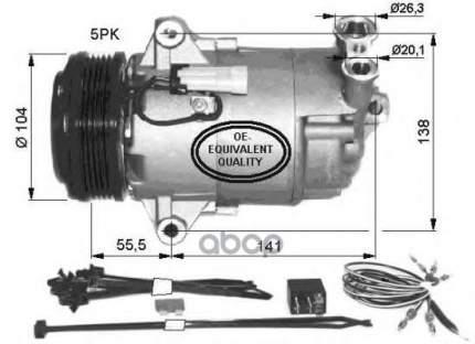 Компрессор кондиционера Opel Astra H/Zafira 1.6/1.8/2.0 04 NRF 32426
