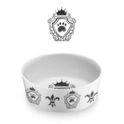 Одинарная миска для собаки TarHong Couture, меламин, белый, 0.7 л