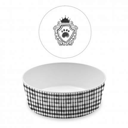 Одинарная миска для собаки TarHong Couture, меламин, белый, черный 1.1 л