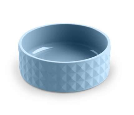 Одинарная миска для собаки TarHong Diamond, керамика, голубой, 0.45 л