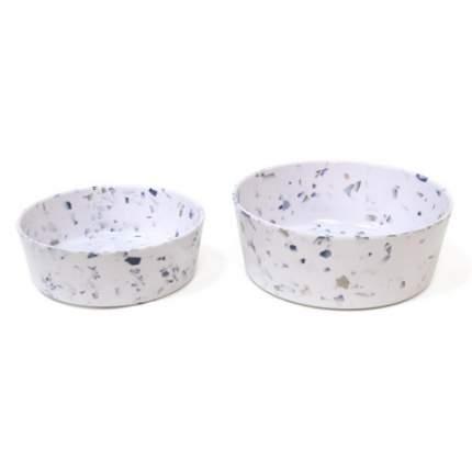 Одинарная миска для собаки TarHong Terrazzo, меламин, белый, 0.35 л