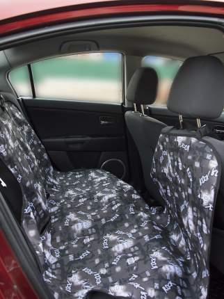 Автогамак для перевозки животных Монморанси Накидка с молнией посередине, серый, 130х160см