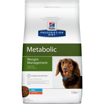 Сухой корм для собак Hill's Prescription Diet Metabolic Mini, курица, индейка, 1,5кг