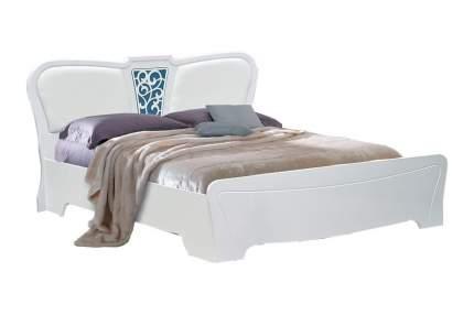 Кровать Фант-Мебель Ольга 12 Белый глянец, МДФ/Кожзам, Белый Экспо, 1200х2000 мм